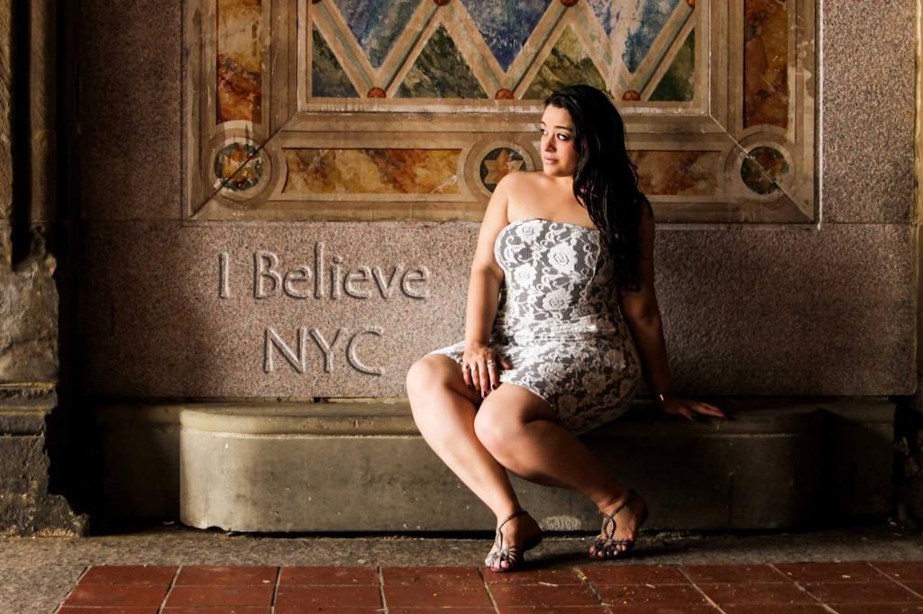 Modelo Plus Size brasileira em NYC