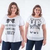 T-shirts Plus Size na Candelabro <3
