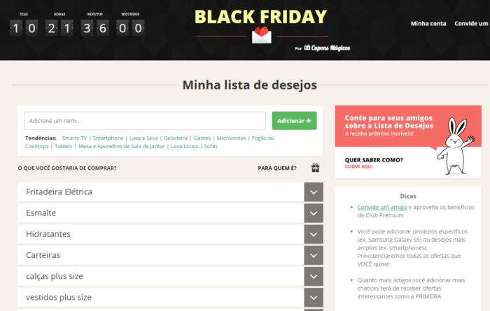 Black Friday 2014 Minha lista de desejos