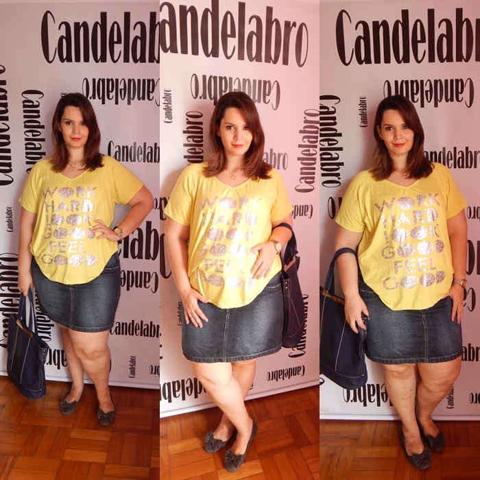 Looks Plus Size Candelabro T-shirts e saias 3 (2)