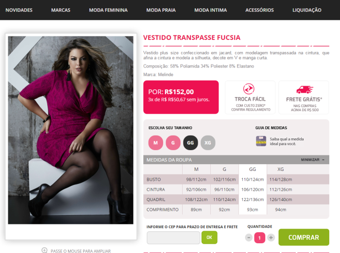 loja virtual plus size  VK Moda Feminina Plus Size (2)