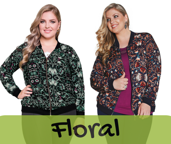 Jaquetas Plus Size Estampadas