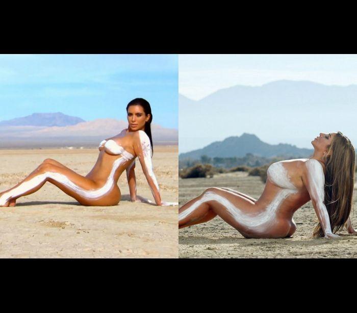 Modelo Plus Size recria fotos de Kim Kardashian (9)