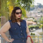 Vestido Jeans Plus Size – LOOK VK MODA PLUS SIZE