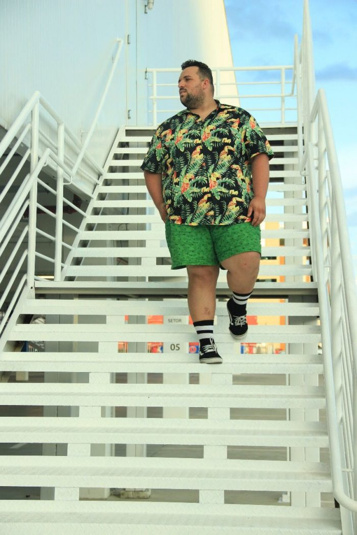 Mix de Estampas - Look Plus Size Masculino
