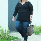 "Jeans para ""todas"" as gordas – Look Vk Moda Plus Size"