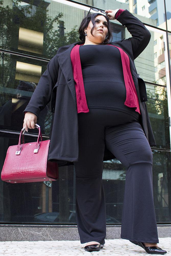 Moda Plus Size com uma mulher Gorda