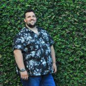 Camisa Floral Dark- Look Plus Size Masculino